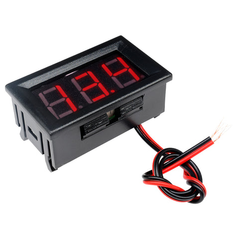 "0.56"" DC5-30V Voltmeter LED Panel Three Digital Display Volt Voltage Meter Red/Green/Blue"
