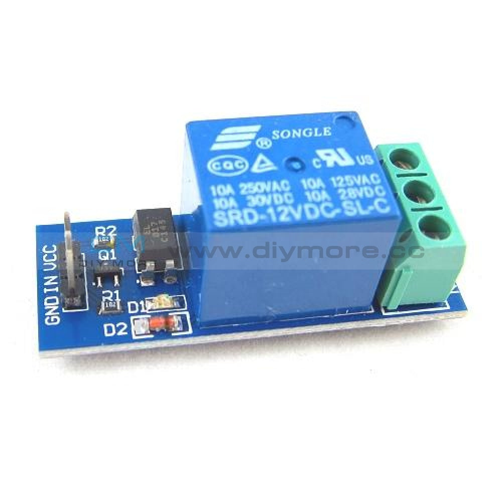 12V One 1 Channel Relay Module Optocouple Board Shield For Pic Avr Arduino 1-Channel Delay