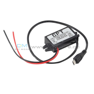 Dc/dc Car Charger Converter Module 12V To 5V 3A 15W With Micro Usb Cable Drive Expansion Board