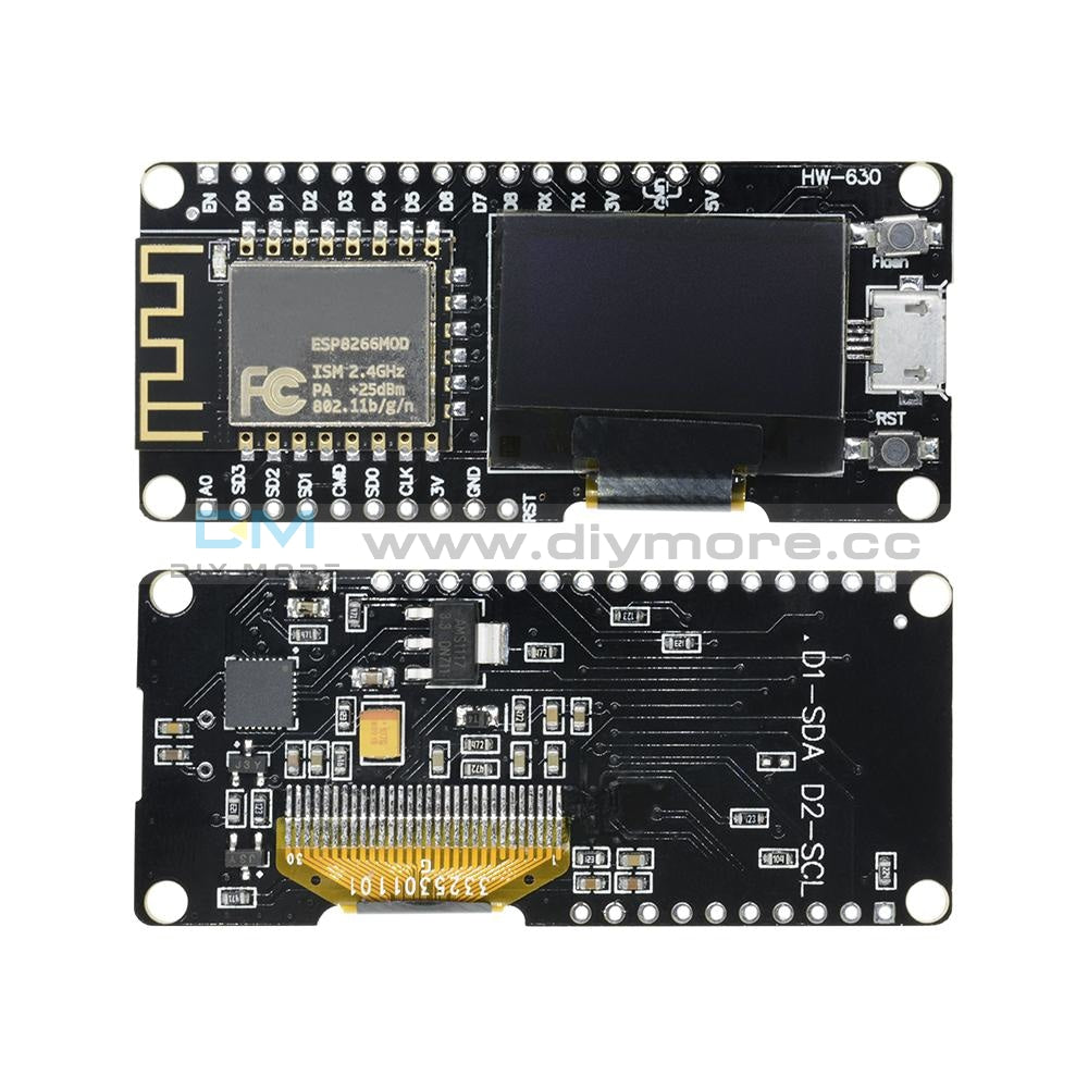 Nodemcu Wemos Wifi Esp8266 Esp-12F Cp2102 Micro Usb Development Board +0.96Oled Expansion Shield
