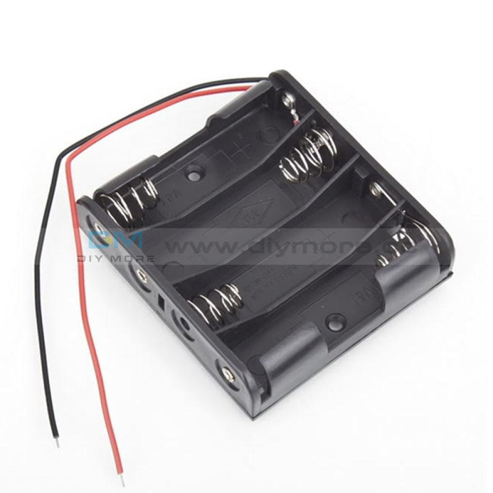 Plastic Battery Storage Case Box Holder For 4 X Aa 4Xaa 2A 6.0V Wire Leads Protection Board