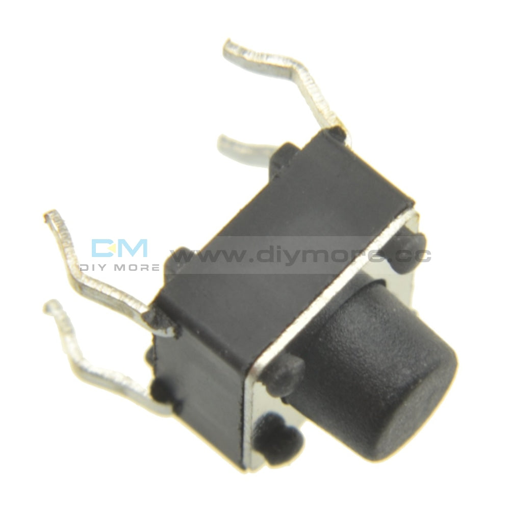 50Pcs Tactile Push Button Switch Tact 6X6X13Mm 4-Pin Dip Tools