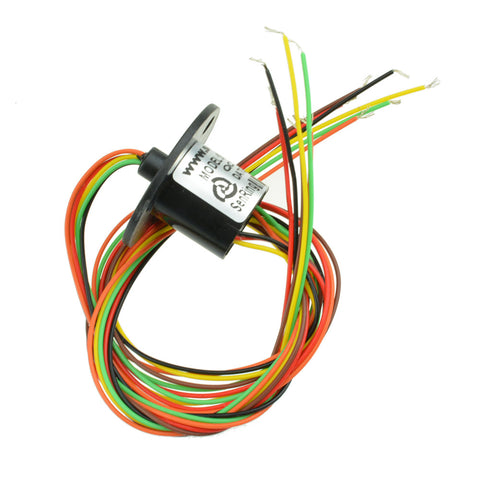 300Rpm Capsule Slip Ring 6 Circuits Wires 12.5mm 2A AC 240V Test Equipment