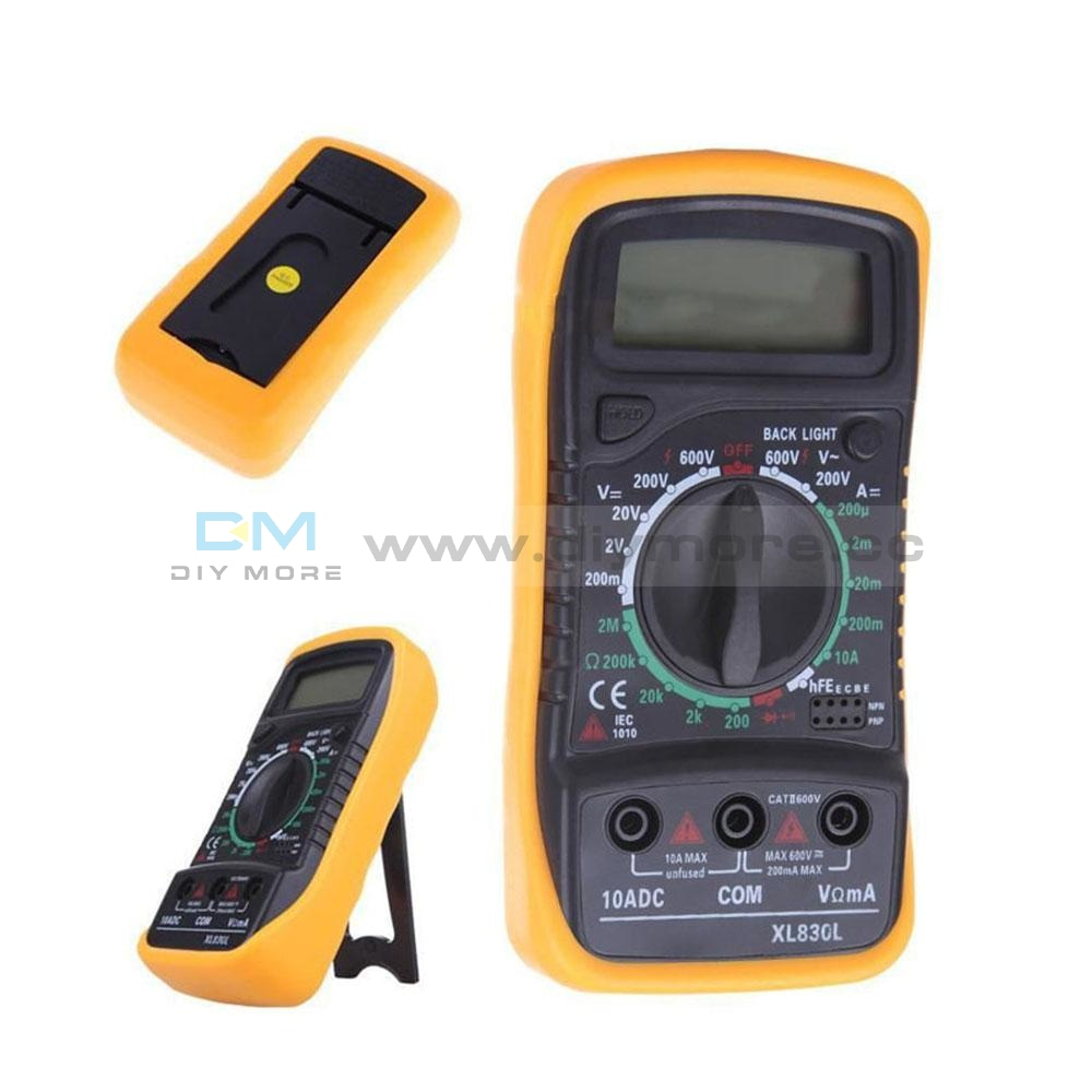 Xl830L Digital Multimeter Portable Multi Meter Ac/dc Voltage Amp Current Resistance Tester Meter