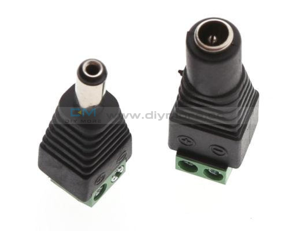 5Pairs Male Female 2.1 X 5.5 Mm Dc Power Plug Jack Adapter Connector For Cctv Module