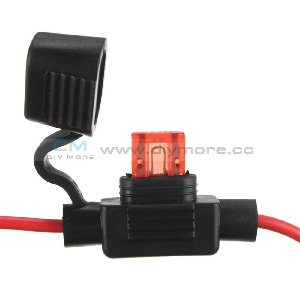 Waterproof Power Socket Mini Blade Type In Line Fuse Holders With 10A Tools