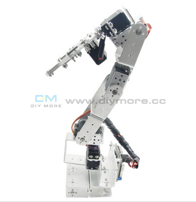 Rot3U 6Dof Aluminium Robot Arm Mechanical Robotic Clamp Claw Kit Without Servos For Arduino Mega2560