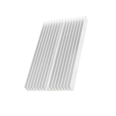 Silver Heat sink 100X60X10mm IC Heatsink Aluminum Cooling Fin For CPU LED Power