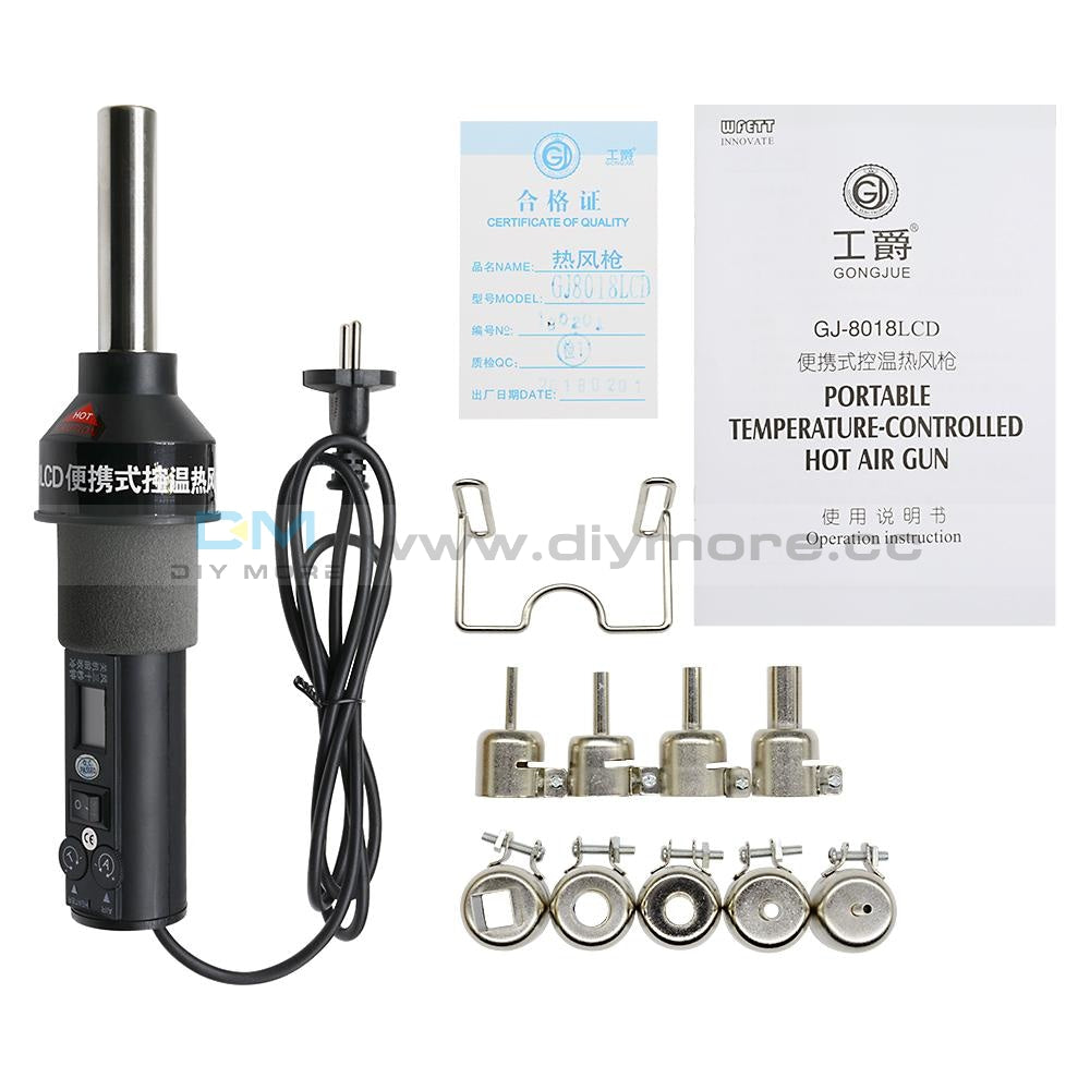 450W 220V 450℃ LCD Display Electronic Hot Air Heat Gun Soldering Station Nozzle