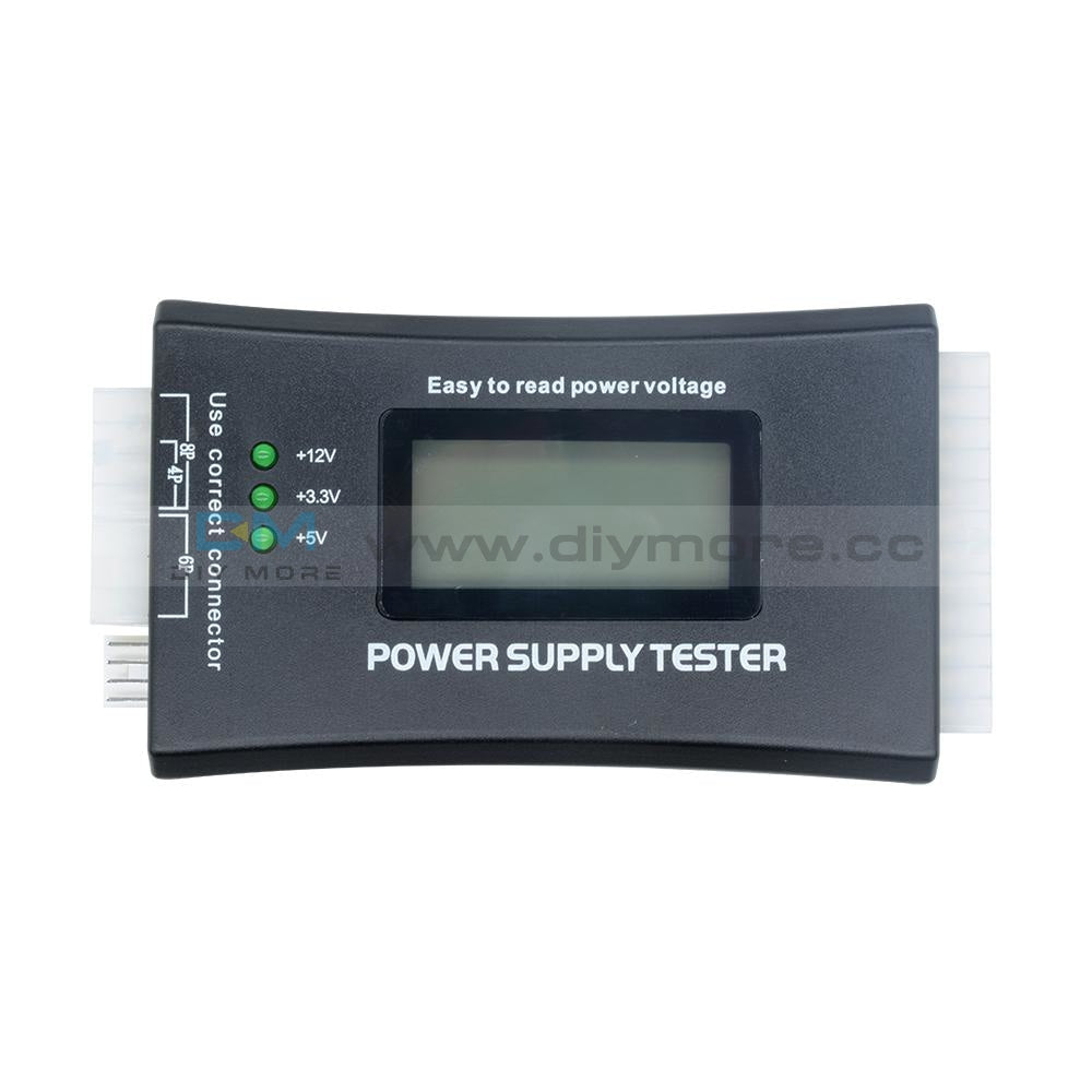 Power Supply Tester 20 24 Pin Sata Lcd Psu Hd Atx Btx Voltage Test Source Testers