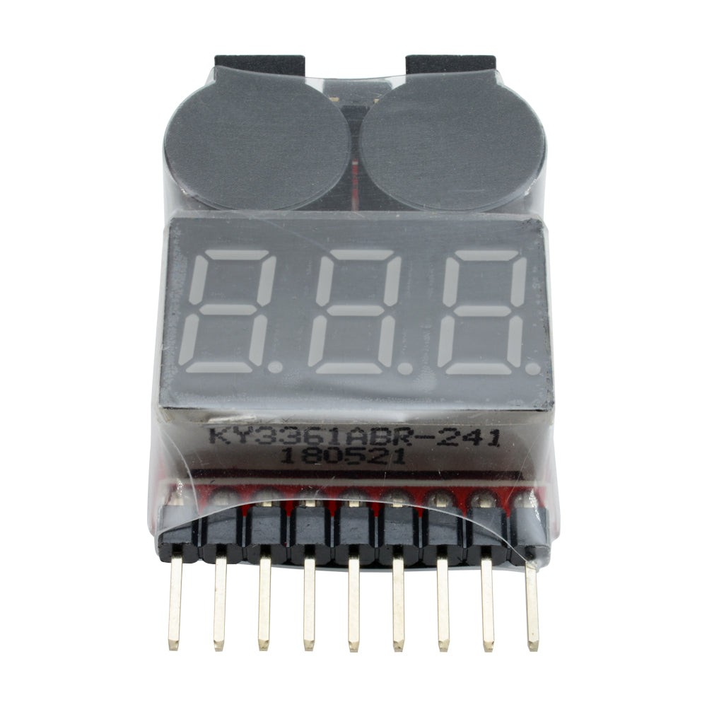 1-8S Lipo Li-ion Fe Battery Voltage 2IN1 Tester Low Voltage Buzzer Alarm