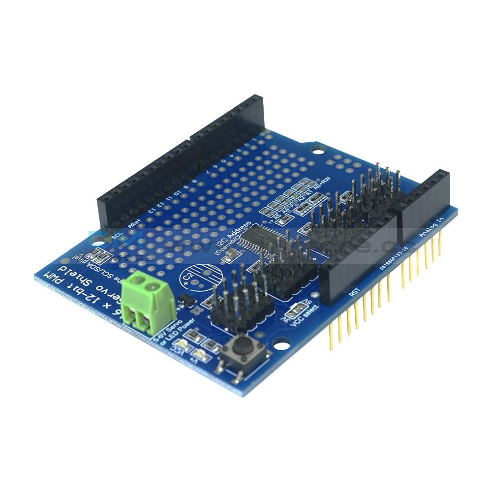 16 Channel 12-Bit Pwm Servo Drive Shield Board -I2C Pca9685 For Arduino