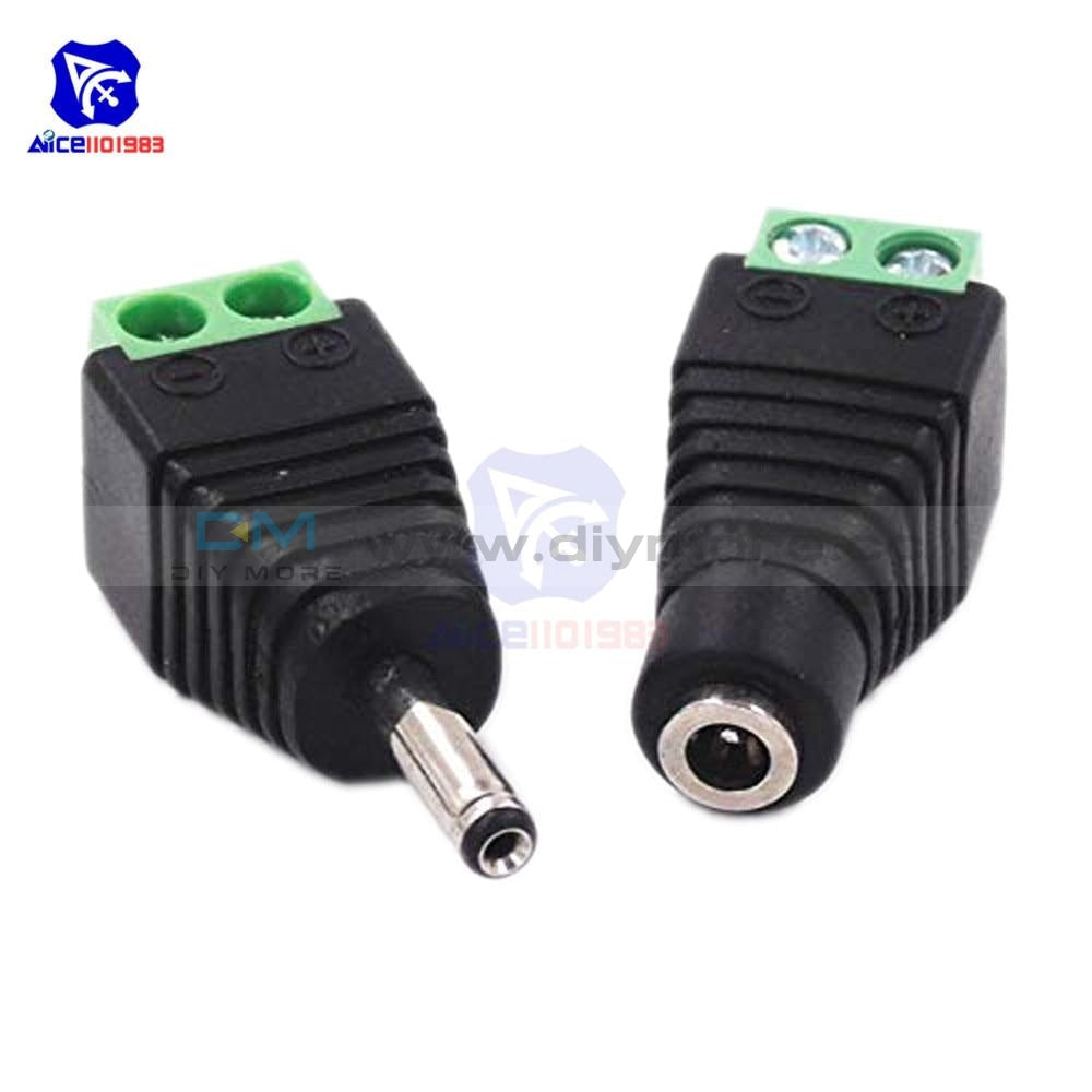 1 Pair Male Female Dc Power Plug Jack 3.5X1.35 Mm Wire Connector For Cctv Camera Led Strip Light