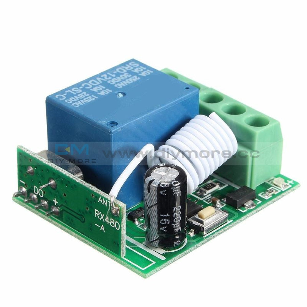 433MHz 1Channel Wireless Relay RF Remote Control Switch Receiver DC12V 10A