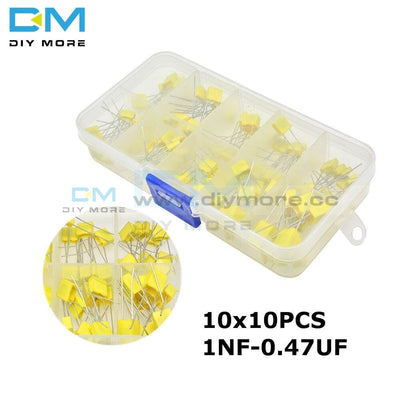 100Pcs Correction Capacitor Package 10*10Pcs Kit Diy 63V100V 102J 152J 332J 472J 103J 333J 473J 104J
