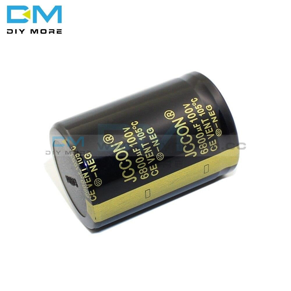 100V 6800Uf 35X50Mm 35X50 Aluminum Electrolytic Capacitor High Frequency Low Impedance Through Hole