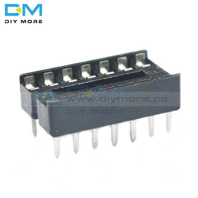 10Pcs 14Pin Dip Ic Socket Adaptor Solder Type Pitch Dual Wipe Contact 2.54Mm 14 Pin 14P Integrated
