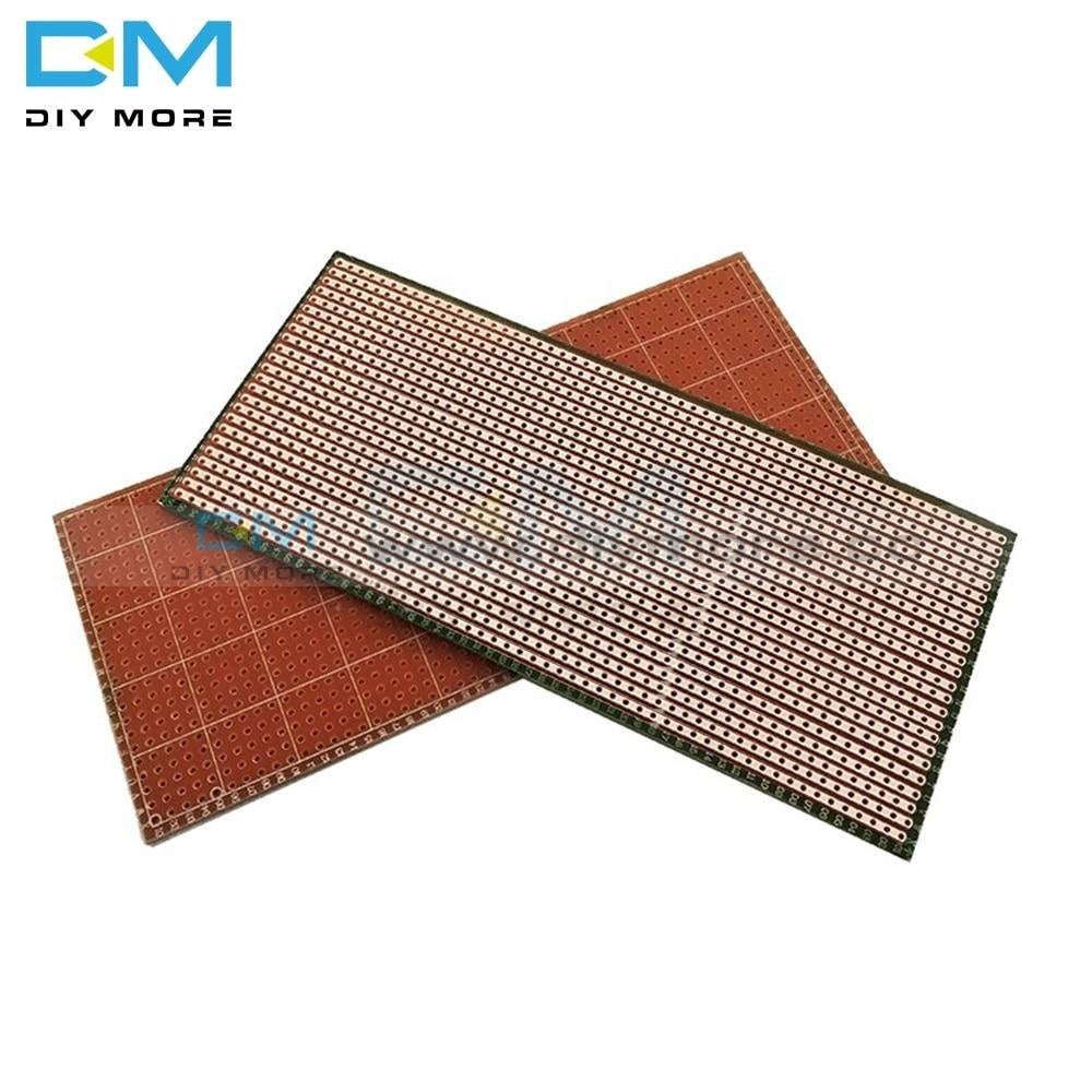 10Pcs 6.5X14.5Cm 2.54 Mm 2.54Mm Single Sided Perforated Green Oil Universal Electric Board Multi