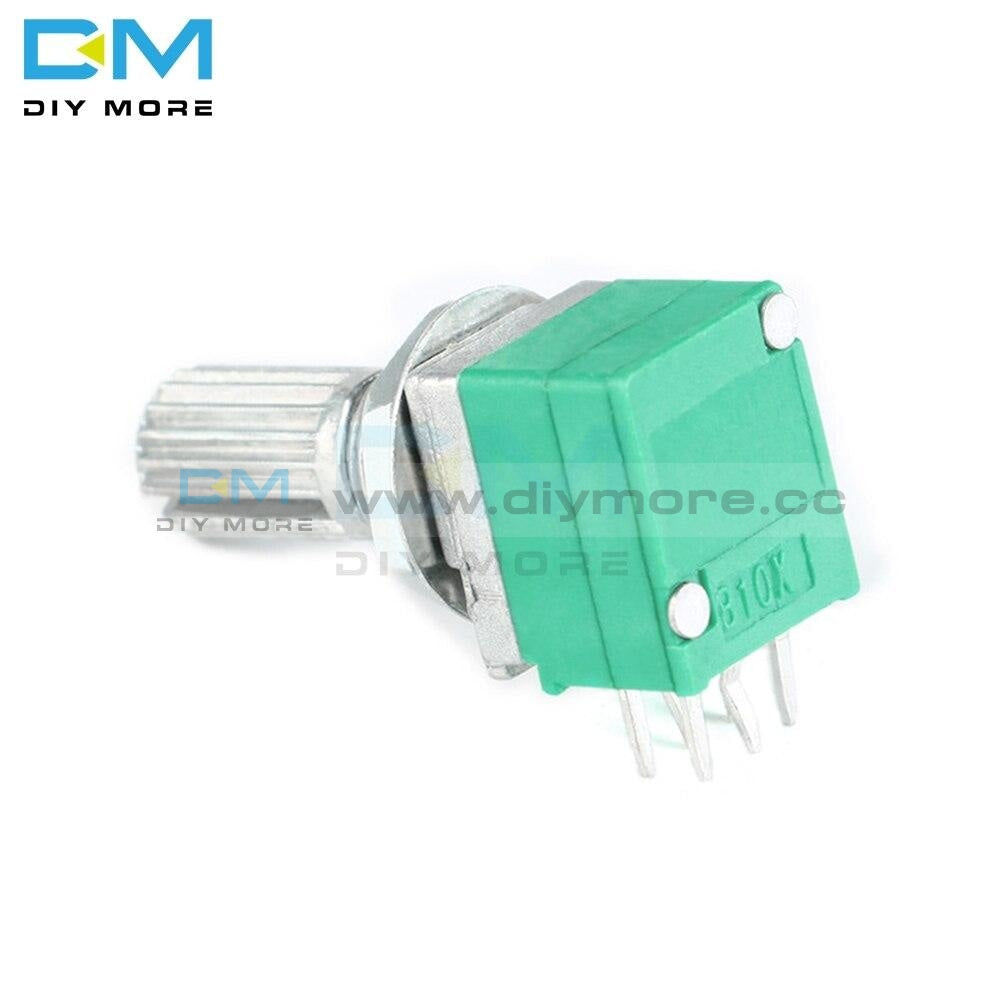 10Pcs 6 Pin 6Pin 6P Rotary Potentiometer 6Mm Knurled Shaft Single Linear B Type B10K Ohm 5K 10K B20K