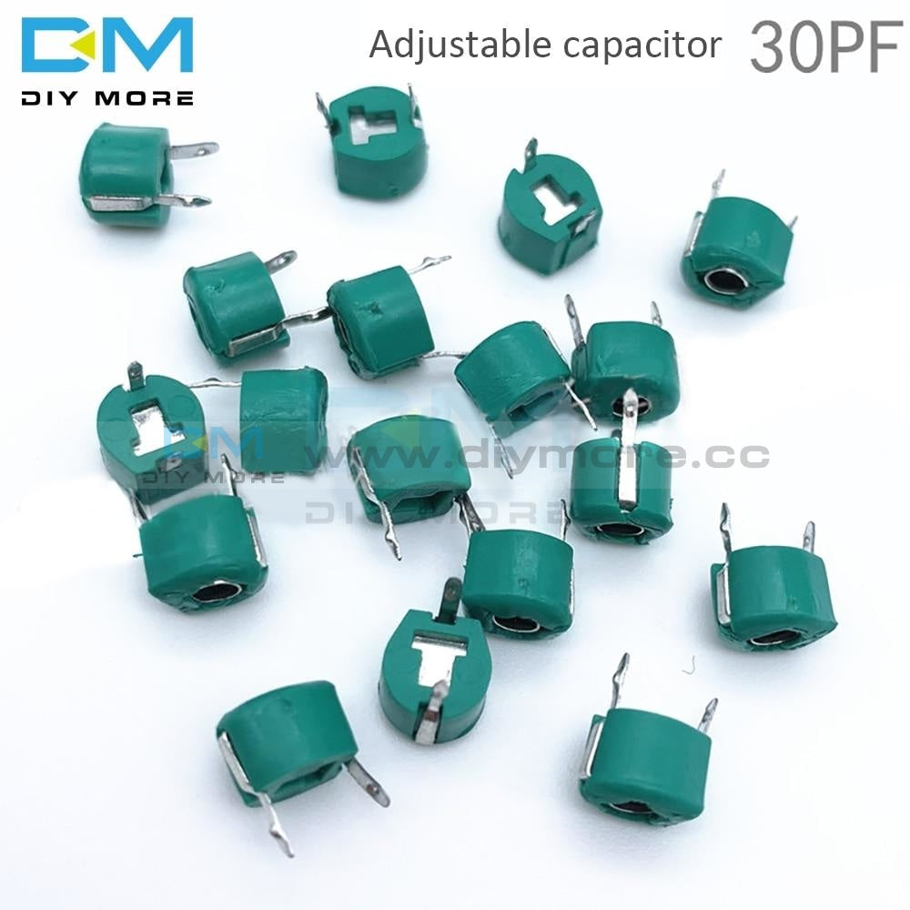 10Pcs 6Mm Trimmer Variable Ceramic Capacitor 3Pf 5Pf 10Pf 20Pf 30Pf 40Pf 50Pf 60Pf 70Pf 120Pf