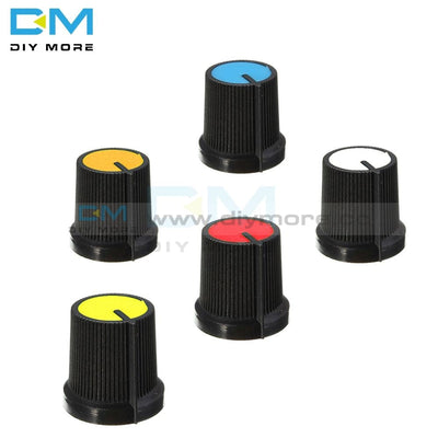 10Pcs Black Knob Blue White Yellow Red Orange 5 Colors Face Plastic For Rotary Taper Wh148 Ec11