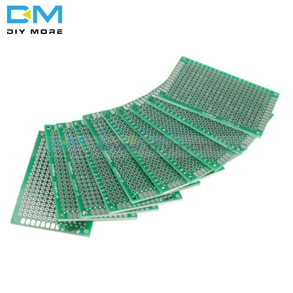 10Pcs Double Side Prototype Pcb 280 Points Hole Tinned Universal Breadboard Fr 4 40X60 4X6Cm 40X60Mm