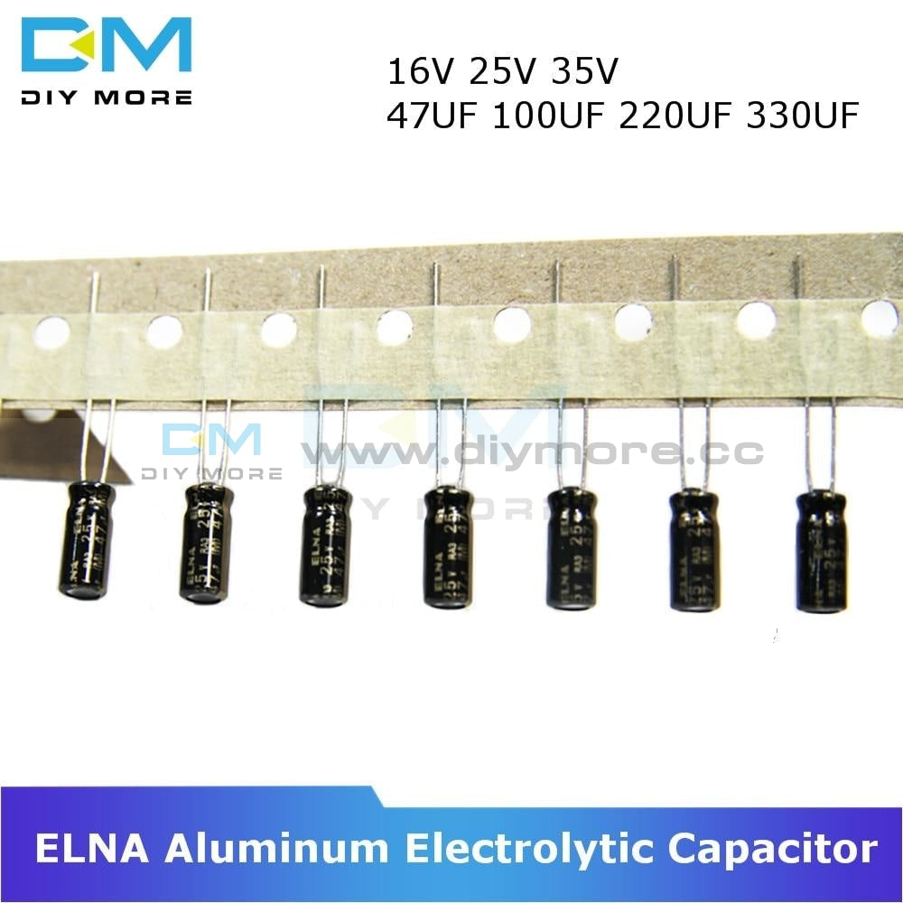 10Pcs Elna Capacitance Aluminum Electrolytic Capacitor 16V 25V 35V 47Uf 100Uf 220Uf 330Uf Audio On