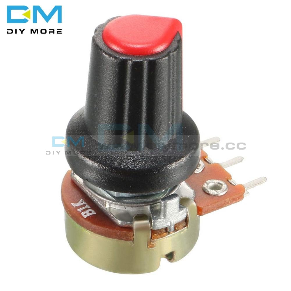 10Pcs With Cap Red Rotary Potentiometer Linear Taper Wh148 1K 2K 3K 5K B10K 20K 30K 50K 100K 200K