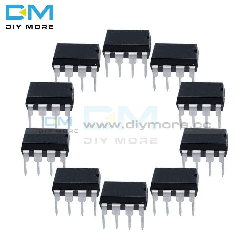 10Pcs Lot Ne555 Ne 555 Ne555P Dip 8 Single Bipolar Timers Ic Chip Diymore Integrated Circuits