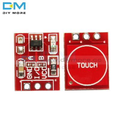10Pcs Ttp223 Touch Key Switch Module Board Touching Button Self Locking No Capacitive Switches