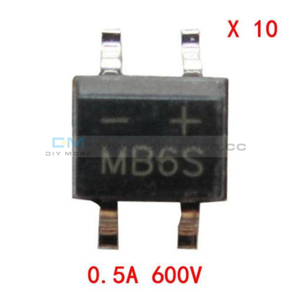 100Pcs Ic Mb6S 0.5A 600V Miniature Mini Smd Bridge Rectifier Tools