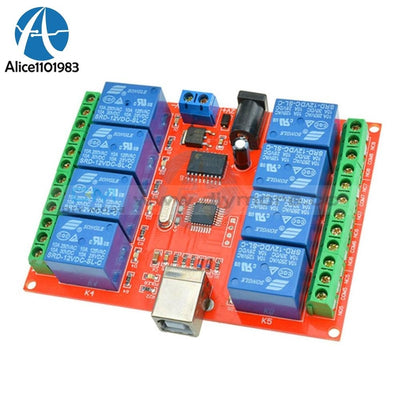 12V Usb Relay 8 Ch Channel Programmable Computer Control For Smart Home Controller Module Board