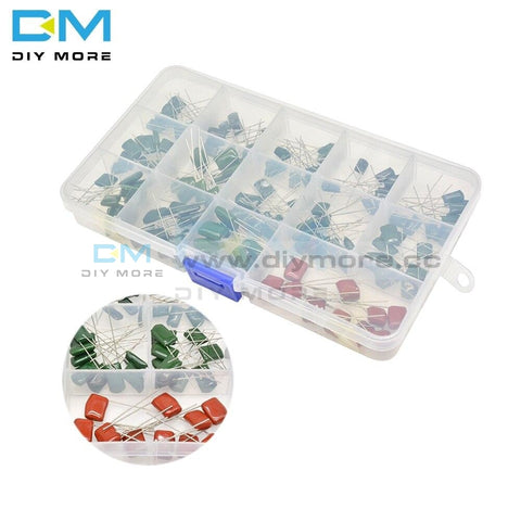 140Pcs 14Valuesx10Pcs Mylar Film Capacitor Assorted Kit 630V 2J102J~2J683J 1Nf~68Nf Polyester Film