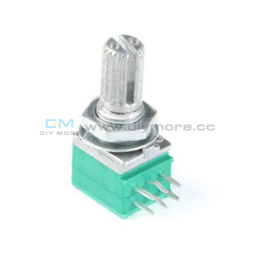 5Pcs 5K 10K 20K 50K 100K Ohm Rotary Potentiometer 6 Pin 6Mm Knurled Shaft Tools