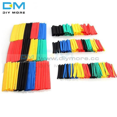 164Pcs Car Electrical Cable Tube Kits Polyolefin Heat Shrink Tubing Wrap Sleeve Assorted 8 Sizes