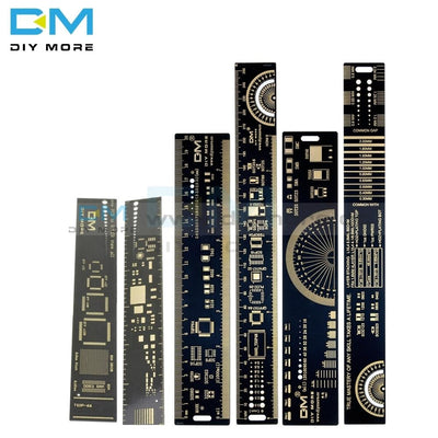1Set 15Cm 20Cm 25Cm Multifunctional Pcb Ruler Measuring Tool Resistor Capacitor Chip Ic Smd Diode