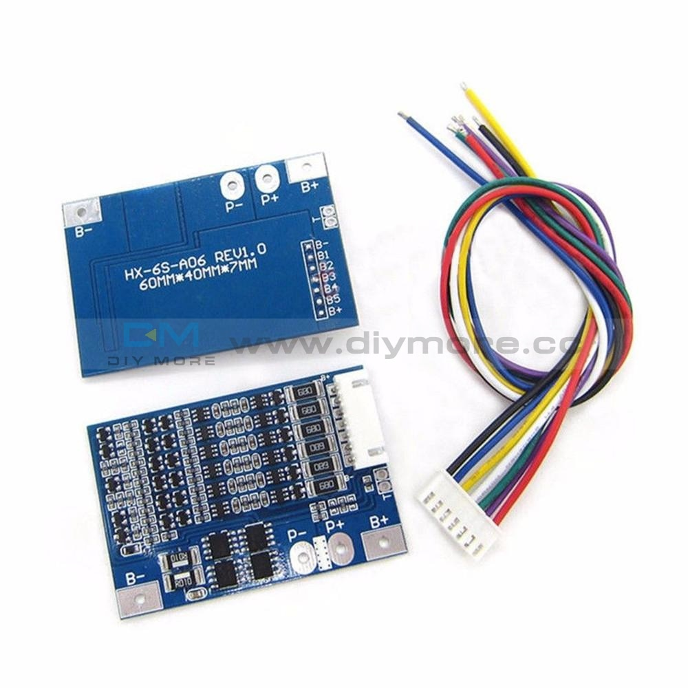 Bms 6S 8A 18650 Lithium Battery Protection Board Balancer Recargable 25.2V Equalizer Power Bank