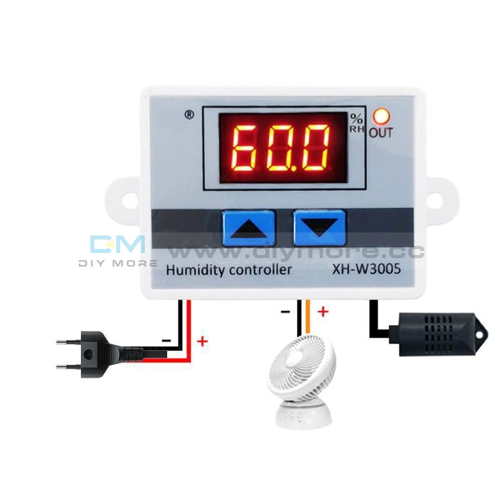 Xh-W3005 Dc 12V 120W Led Digital Humidity Controller Sensor Hygrometer Switch Temperature