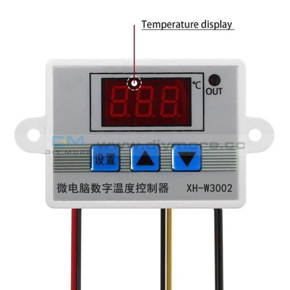 Xh-W3002 Dc 12V 24V Ac 110V-220V 10A Digital Thermostat Control Switch With Probe Sensor