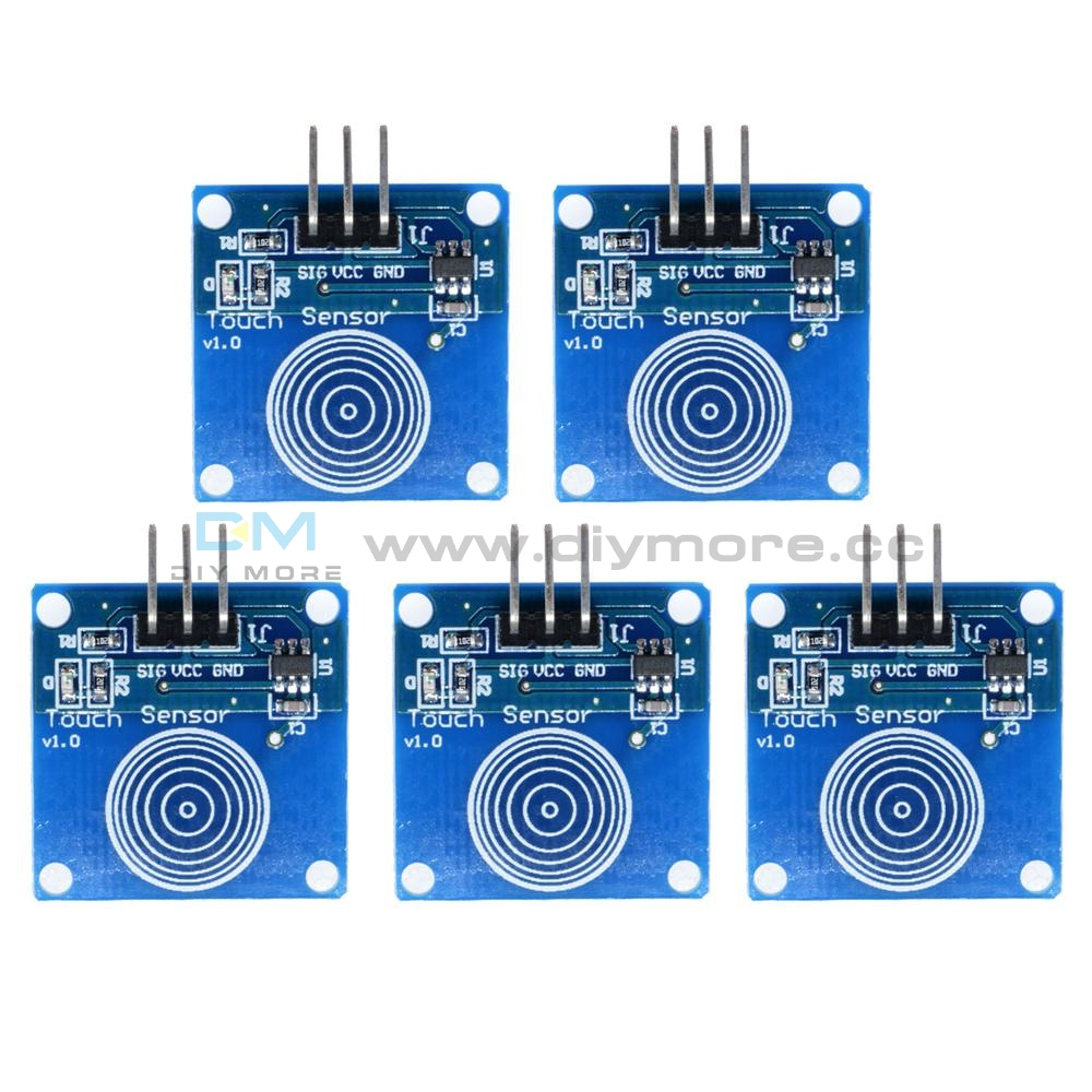 5Pcs Ttp223B Digital Touch Sensor Capacitive Switch Module For Arduino