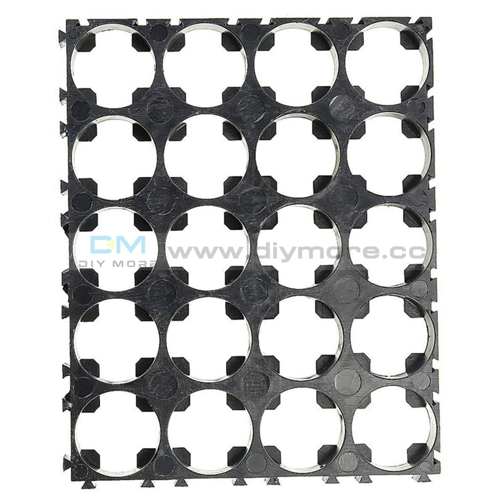 10Pcs 4 X 5 Cell 18650 Batteries Spacer Radiating Shell Plastic Heat Holder Bracket Tools