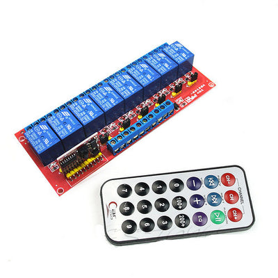 5V 8 Channel Relay Module Multi-function Infrared Remote Control Bi-directional