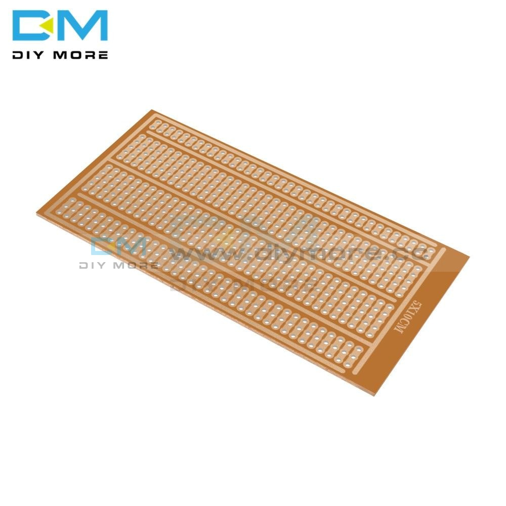 20Pcs 5X10Cm Single Side Wholesale Universal Solderless Pcb Test Breadboard Copper Prototype Paper