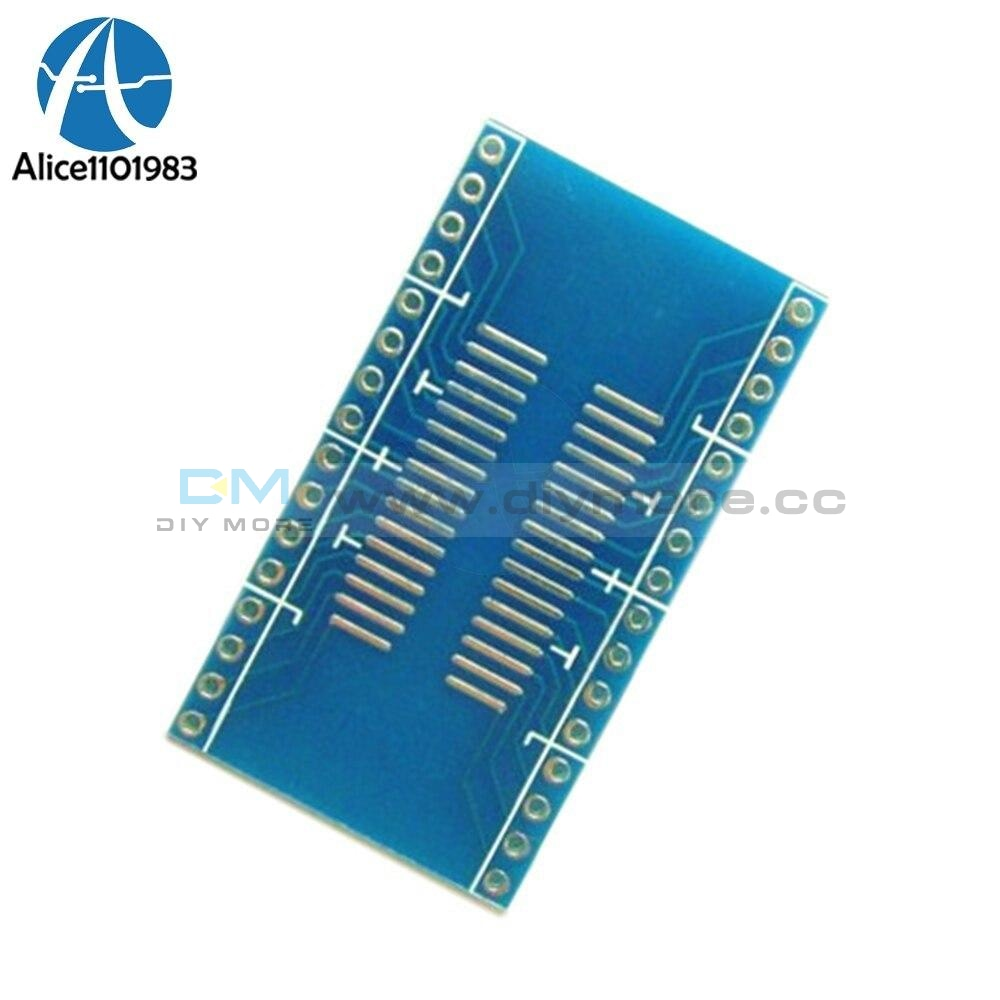 2Pcs Sop32 To Dip32 1.27Mm 2.54Mm Pitch Interposer Board Pcb Adapter Plate Diy Integrated Circuits