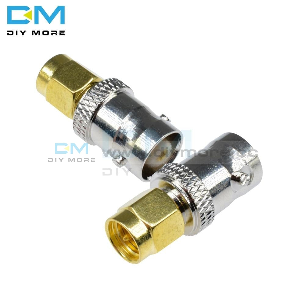 2Pcs Lot Rf Coax Coaxial Sma Male Plug To Bnc Female M/f Radio Antenna Contor For Gold Plated