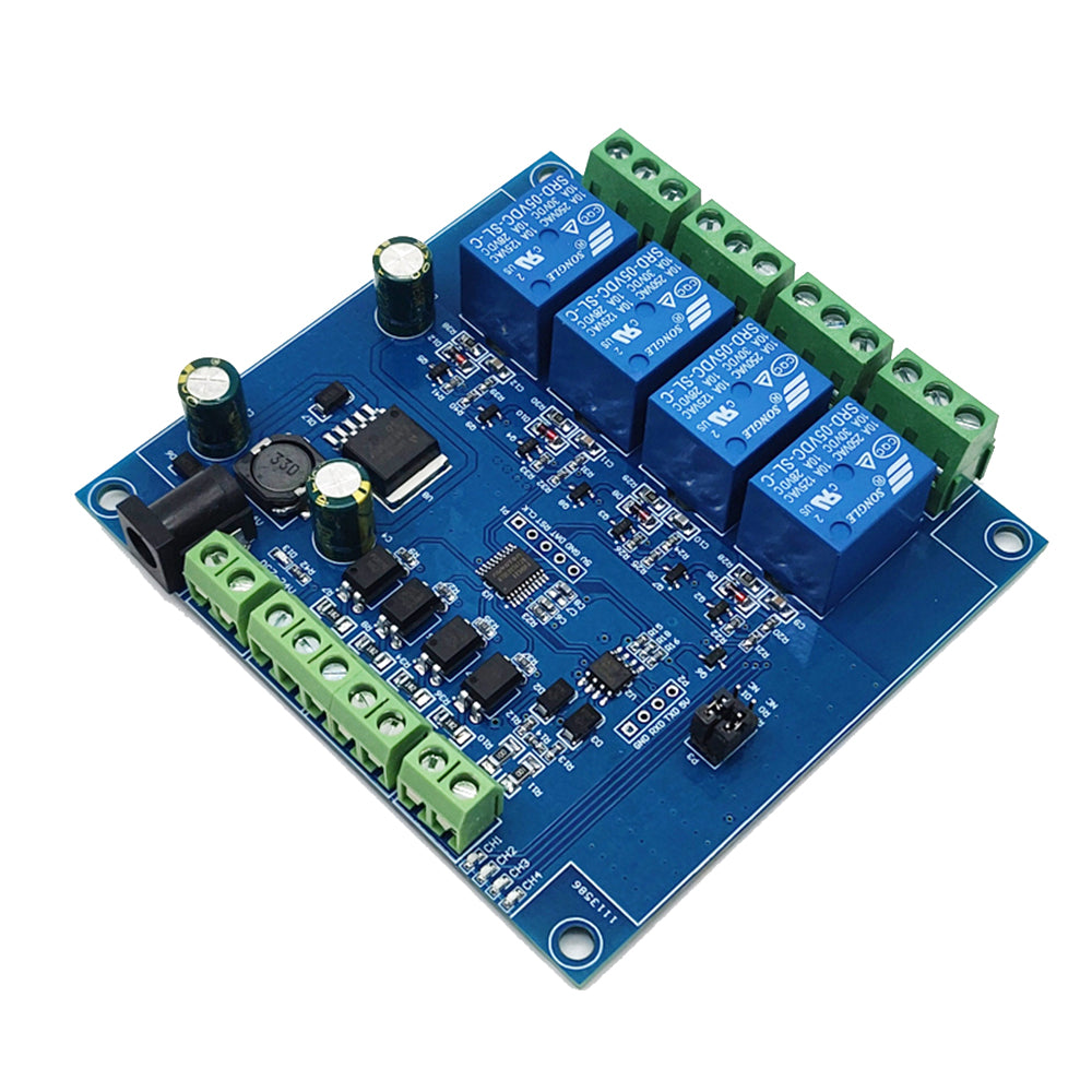 DC 24V 4 Channel Relay Control Switch RS485/TTL Anti-reverse Connection Module