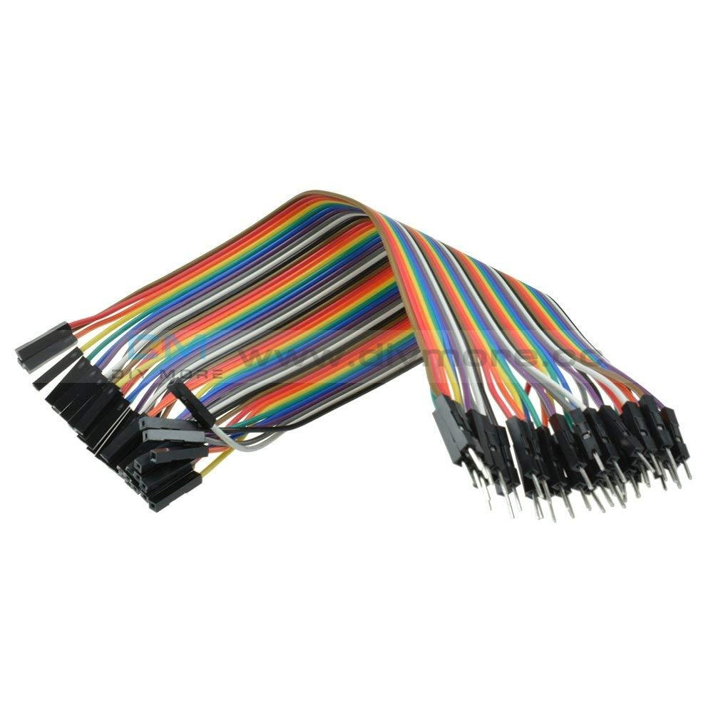 20Cm 40Pin Male To Male/ M-F/f-F Wire Jumper Breadboard Multicolored Dupont Ribbon Cables Kit For