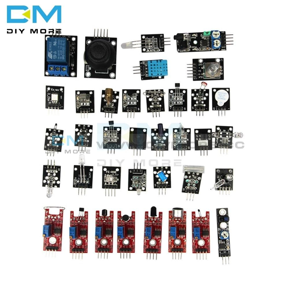 37 Sensor Ultimate In 1 Modules Kit For Arduino Starters Keyes Mcu Education User Diy Kits Diy