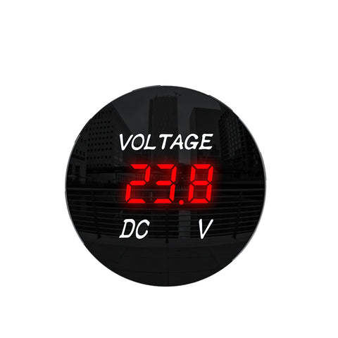 DC 12V-24V LED Panel Digital Voltage Meter Display Voltmeter  Motorcycle Car