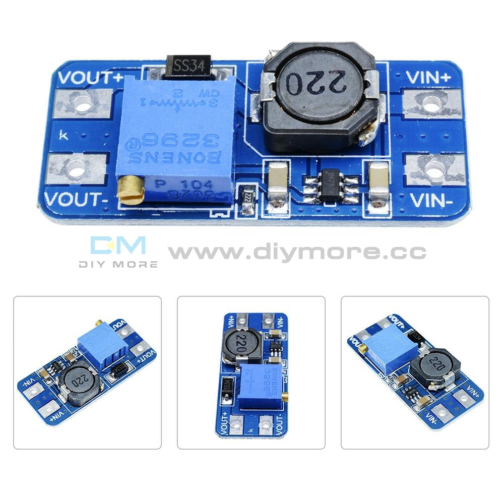 5Mt3608 Dc-Dc Step Up Power Apply Module Booster Converter Max Output 28V 2A For Arduino